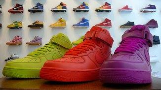 Nike AF1\'s for ladies lookin\' like a bag of Skittles