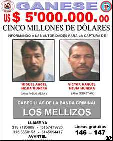 Mejia (L) was reportedly killed in a shoot-out after an informant\'s tip-off