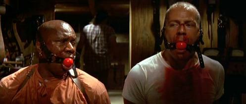 Ving Rhames (Marsellus Wallace) + Bruce Willis (Butch)  star in cult classic Pulp Fiction