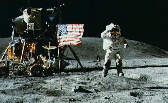 nut cases moon landing faked