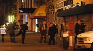Police say several people were shot in Harlem on Monday night.