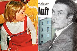 Elisabeth as a child (left) and her father and captor Josef Fritzl, as he looked when he first imprisoned her