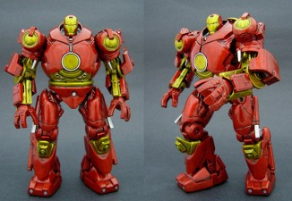 "Saotome makes a living cranking out custom creations like this Hulkbuster Iron Man. ""What if Iron Man crash-landed in this summer\'s Hulk movie? He\'d be wearing this armor,\"" said Saotome. He crafted the custom piece using the beefed-up exoskeleton of Iron Man\'s nemesis, the Iron Monger. Saotome says this figure sold for $520 on eBay.Photo courtesy Jin Saotome"
