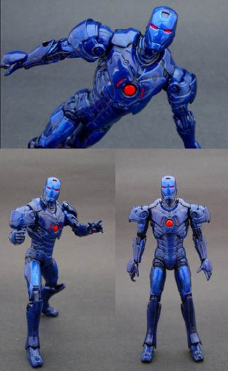 Saotome usually starts with a simple base doll to build custom action figures like this Stealth Iron Man. Utilizing a prepackaged form allows the figurine to be fully articulated -- durable joints are nearly impossible to build by hand, says Saotome.