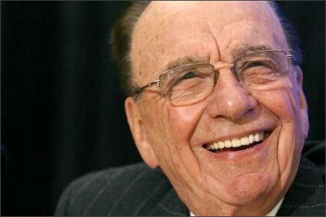 News Corp Chairman and CEO Rupert Murdoch smiles during a news conference before the 2008 Atlantic Council Awards Dinner in Washington April 21, 2008