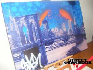 BK Bridge painting