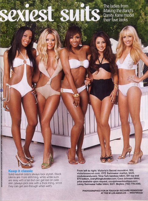 In Touch Weekly Danity Kane Bathing Suit Photo Spread