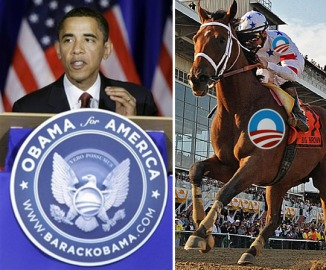 Obama is off to the races