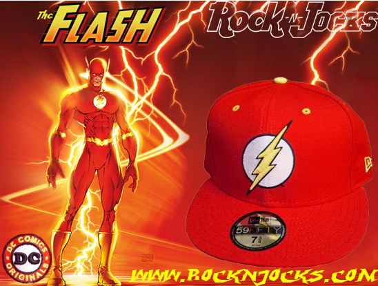 """www.rocknjocks.com just got in this Flash New Era """"Marvel Comics"""" 59 50 Fitted  hat. Rocknjocks.com got a total of 25 pieces in. Once they are gone they  are ... 447dc56168b"""