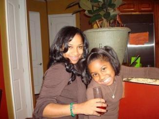 "Lil Wayne's former wife Antonia ""Toya"" Carter  and their daughter Reginnae"
