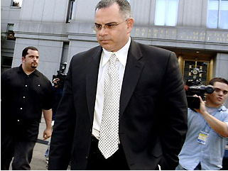 Junior Gotti walks from court in a previous case brought by  Federal prosecutors that was eventually was dismissed.