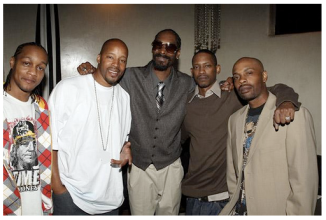 Quik, Warren G, Snoop, Kurupt and friend