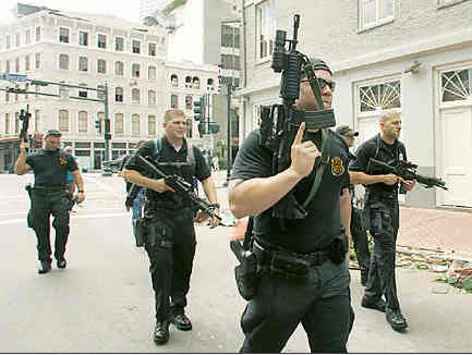 Blackwater Merc's patrolling streets of N.O.