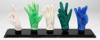 MJ's signature gloves covered in Swarovski crystals