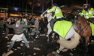 protestors-clash