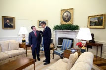 President Barack Obama meets with King Abdullah of Jordan in the Oval Office 4/21/09 Official White