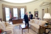 President Barack Obama meets with President Clinton in the Oval Office 4/21/09