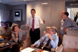 President Barack Obama talks with the Congressional delegation aboard Air Force One April 19, 2009, during the flight from Port of Spain, Trinidad to Andrews AFB ,following the Summit of the Americas. Participants include: Rep. Nydia Velazquez, Sen. Max Baucus. and Rep. Sam Farr, right.