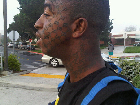 Gucci Mane Tattoo Face: the face that is how we are going out these days