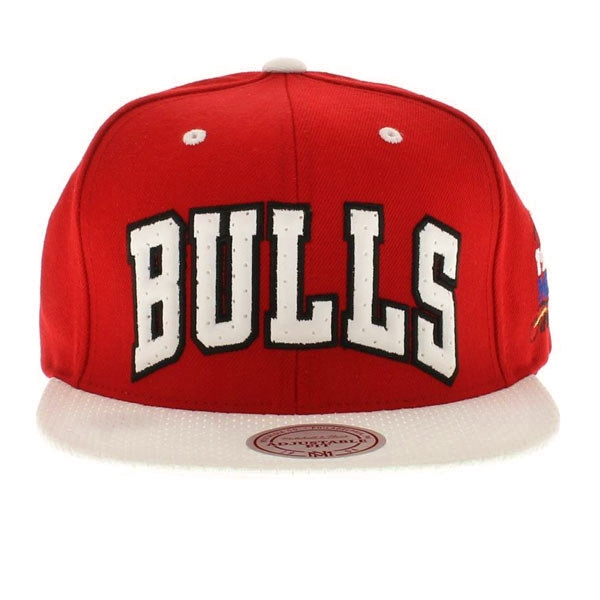 "00c5b3d9a59 Rock-N-Jocks just got in stock Chicago Bulls ""1991 NBA FINALS side logo""  Mitchell   Ness Snapback. This snapback is all red. The bill of the hat is  white ..."